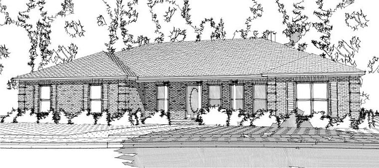 Ranch Traditional House Plan 78652 Elevation