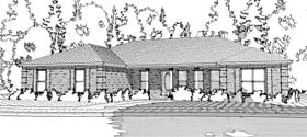 Traditional , Ranch House Plan 78653 with 3 Beds, 3 Baths, 2 Car Garage Elevation