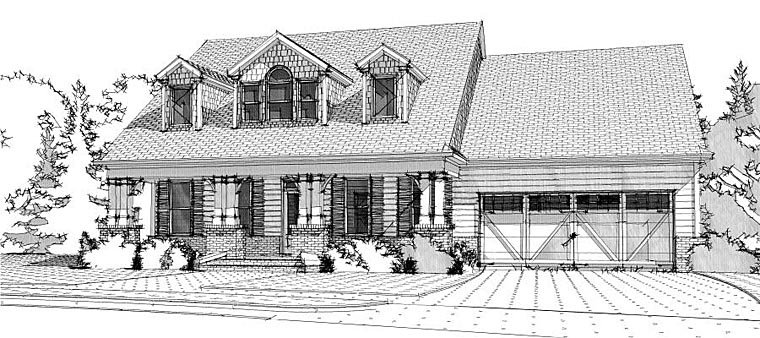 Cape Cod Country Traditional House Plan 78656 Elevation