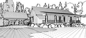 Country Ranch Southern House Plan 78657 Elevation