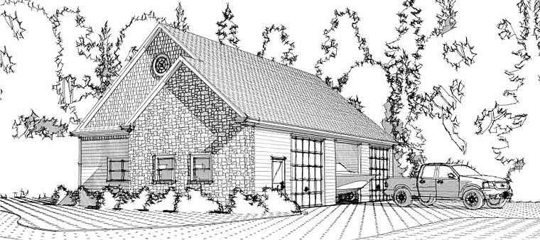 Garage Plan 78660 Elevation