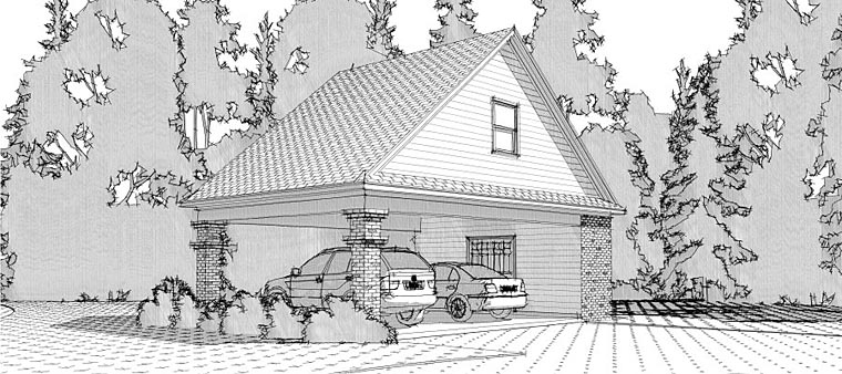 2 Car Garage Plan 78665 Front Elevation