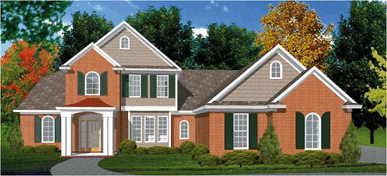 Traditional House Plan 78703 with 4 Beds, 3 Baths, 2 Car Garage Picture 1