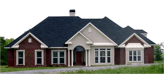 Traditional House Plan 78705 with 4 Beds, 3 Baths, 3 Car Garage Elevation
