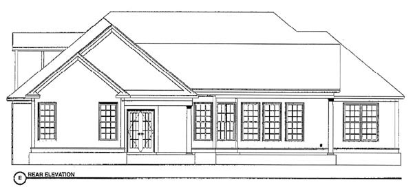 Traditional House Plan 78710 Rear Elevation