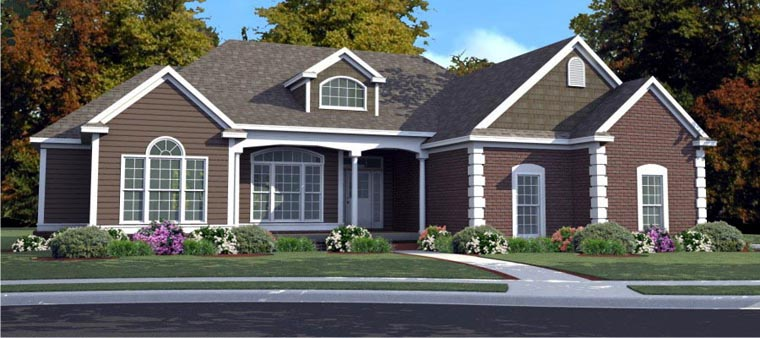 Country House Plan 78711 Elevation