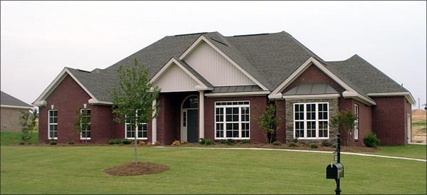 European House Plan 78721 with 3 Beds, 3 Baths, 2 Car Garage Elevation