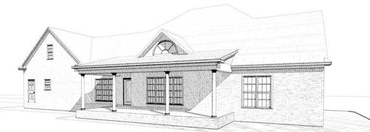 Traditional House Plan 78723 Rear Elevation