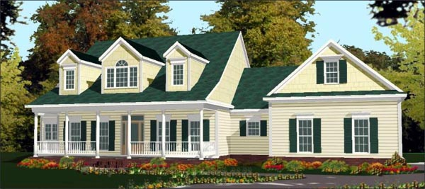 Country House Plan 78724 Elevation