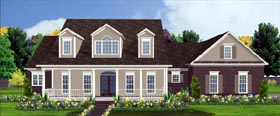 Country House Plan 78725 with 4 Beds, 4 Baths, 2 Car Garage Elevation