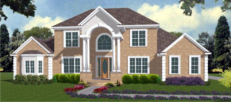 House Plan 78729 | Style Plan with 4052 Sq Ft, 4 Bedrooms, 4 Bathrooms, 3 Car Garage Elevation