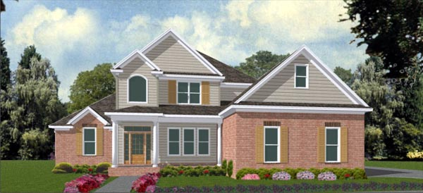 Country House Plan 78730 with 4 Beds , 4 Baths , 2 Car Garage Elevation