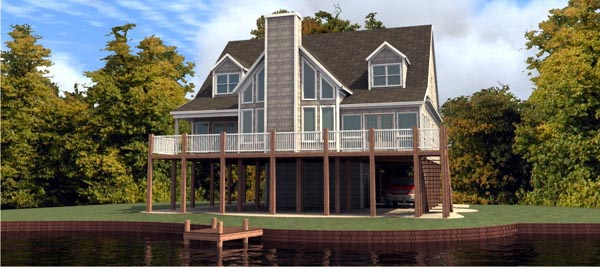 Coastal House Plan 78732 Elevation