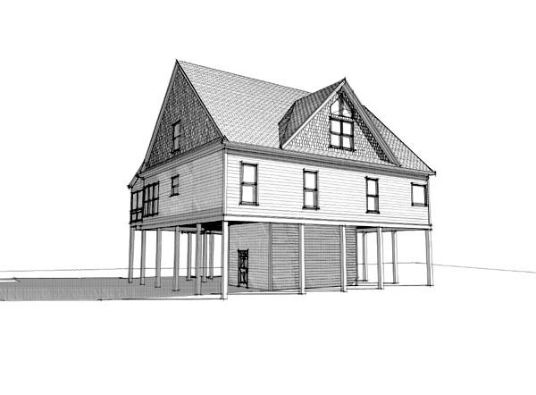 Coastal House Plan 78732 with 4 Beds, 4 Baths Picture 2