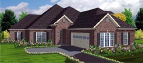 House Plan 78736 | Contemporary Style Plan with 2670 Sq Ft, 4 Bedrooms, 4 Bathrooms, 2 Car Garage Elevation