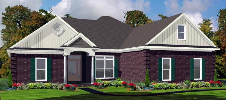 Traditional House Plan 78741 Elevation