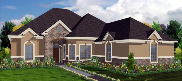 Contemporary House Plan 78746 Elevation