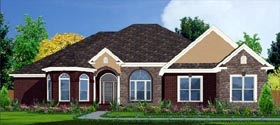 House Plan 78750 | Contemporary Style Plan with 2620 Sq Ft, 4 Bedrooms, 3 Bathrooms, 2 Car Garage Elevation