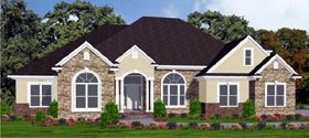 Contemporary House Plan 78751 Elevation