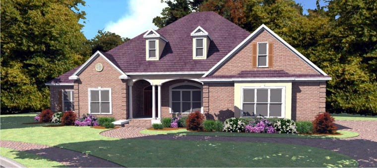 Traditional House Plan 78752 Elevation