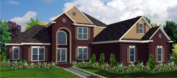 Contemporary House Plan 78755 Elevation