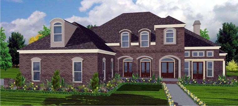 European House Plan 78757 Elevation