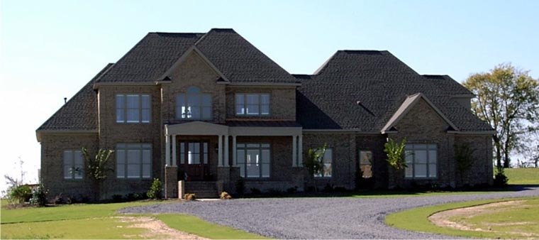 European House Plan 78759 with 4 Beds, 4 Baths, 3 Car Garage Elevation