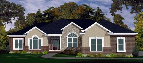 Contemporary House Plan 78765 Elevation