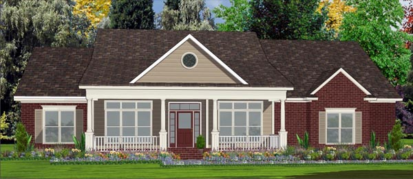 House Plan 78766 | Contemporary Style Plan with 2499 Sq Ft, 4 Bedrooms, 3 Bathrooms, 2 Car Garage Elevation