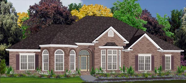 Contemporary House Plan 78767 with 4 Beds, 3 Baths, 2 Car Garage Elevation