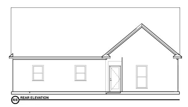 Bungalow House Plan 78776 Rear Elevation