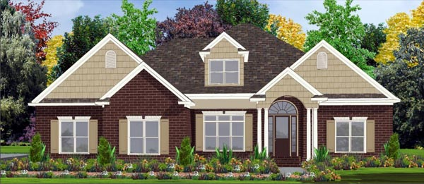 Contemporary House Plan 78777 with 4 Beds, 4 Baths, 3 Car Garage Elevation