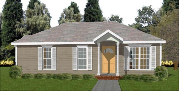 Colonial House Plan 78781 Elevation