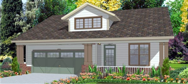 Contemporary House Plan 78792 with 3 Beds, 2 Baths, 2 Car Garage Elevation