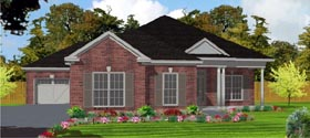 House Plan 78796 | Contemporary Style Plan with 2025 Sq Ft, 3 Bedrooms, 2 Bathrooms, 3 Car Garage Elevation