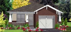 Contemporary House Plan 78806 Elevation