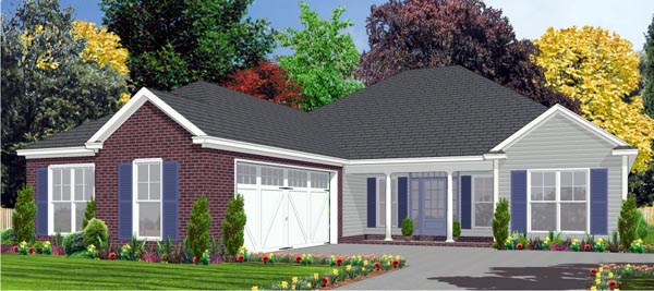 Traditional House Plan 78822 Elevation