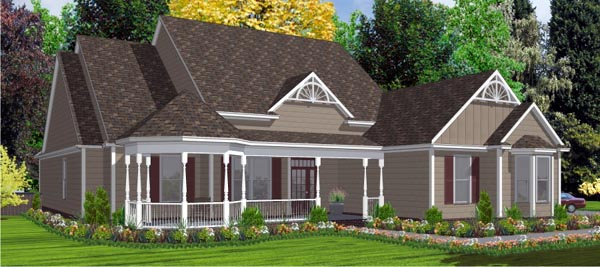 European House Plan 78831 Elevation