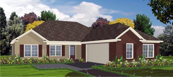 Contemporary House Plan 78833 Elevation