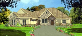 European House Plan 78835 Elevation
