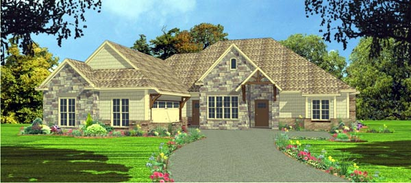European House Plan 78835 Elevation