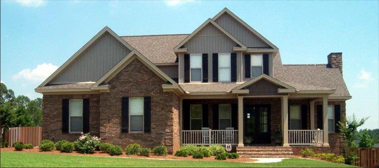 Farmhouse House Plan 78836 with 4 Beds, 3 Baths, 2 Car Garage Elevation
