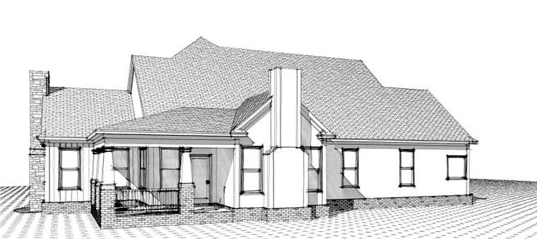Farmhouse House Plan 78836 with 4 Beds, 3 Baths, 2 Car Garage Picture 1