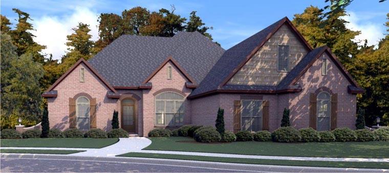 European House Plan 78850 Elevation