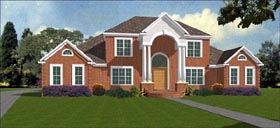 Colonial House Plan 78851 Elevation