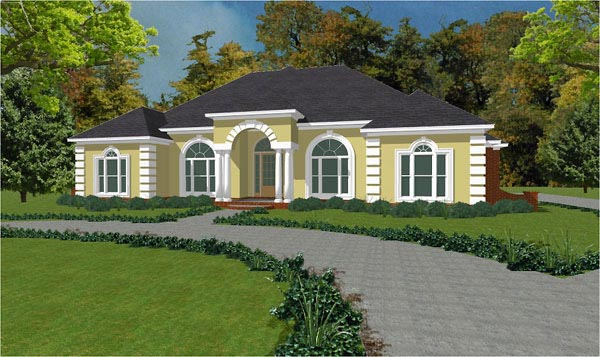 Colonial House Plan 78853 Elevation