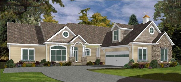 Traditional House Plan 78857 Elevation