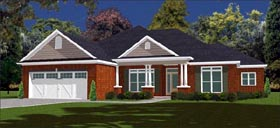 House Plan 78858 | Traditional Style Plan with 2238 Sq Ft, 4 Bedrooms, 3 Bathrooms, 2 Car Garage Elevation