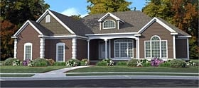 Country Ranch Traditional House Plan 78860 Elevation