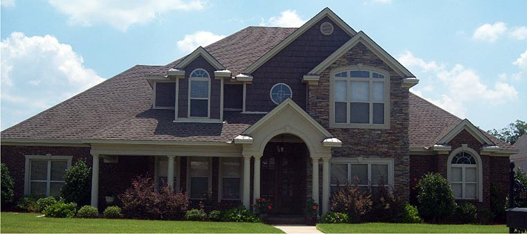 European, Traditional House Plan 78861 with 4 Beds, 4 Baths, 2 Car Garage Elevation